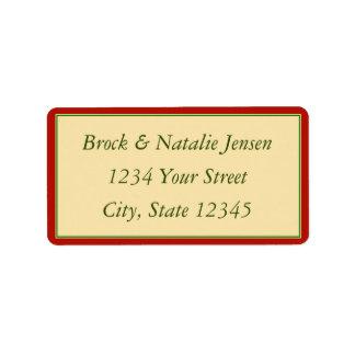 Custom Christmas Holiday Envelope Address Label Labels