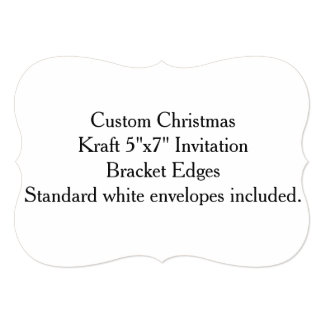 "Custom Christmas Kraft 5""x7"" Invitation"