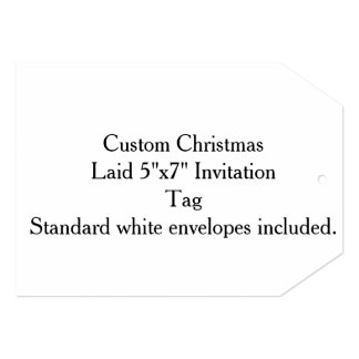 "Custom Christmas Laid Paper 5""x7"" Invitation"