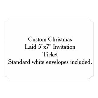 "Custom Christmas Laid Paper 5""x7"" Invitation"