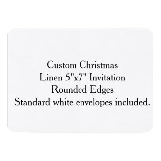 "Custom Christmas Linen 5""x7"" Invitation"