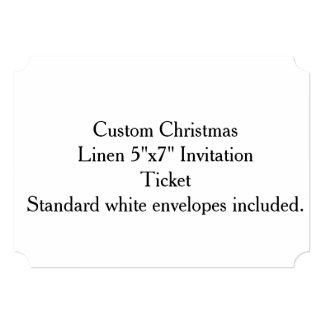"Custom Christmas Linen 5""x7"" Invitation"