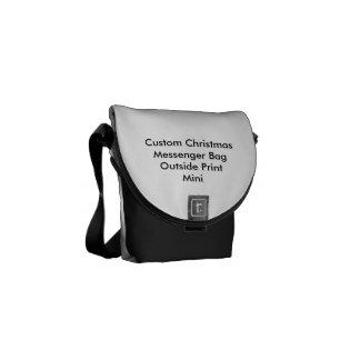 Custom Christmas Mini Messenger Bag Outside Print