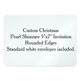 "Custom Christmas Pearl Shimmer 5""x7"" Invitation"
