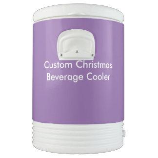 Custom Christmas Ten Gallon Beverage Cooler