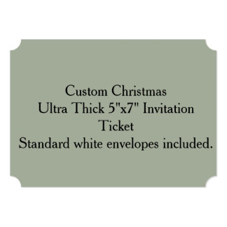 "Custom Christmas Ultra Thick 5""x7"" Invitation"