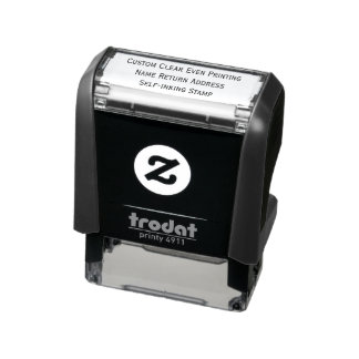 Custom Clear Even Printing Name Return Address Self-inking Stamp