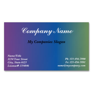 Custom Color Compliments Magnetic Business Card Magnetic Business Cards
