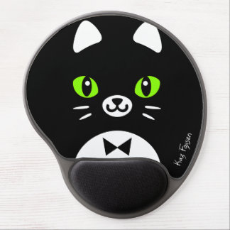Custom Color Cute Tuxedo Cat Mousepad Gel Mouse Mats