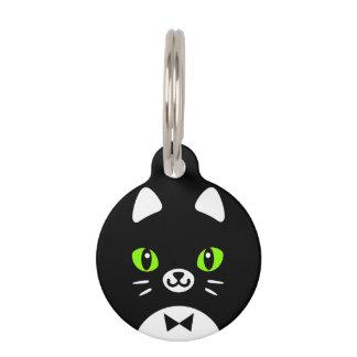 Custom Color Minimalist Tuxedo Cat Cartoon Pet Nametag