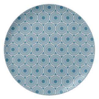 Custom Color Retro Circles plate