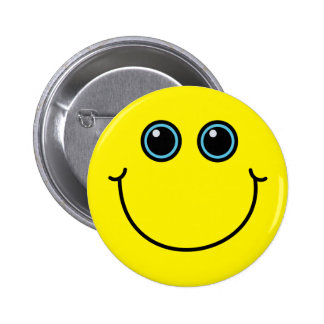 Custom Color Smiley Face 6 Cm Round Badge