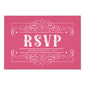 "Custom Color South Western RSVP Card - Pink 3.5"" X 5"" Invitation Card"