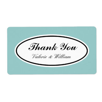 Custom Color Thank You Labels