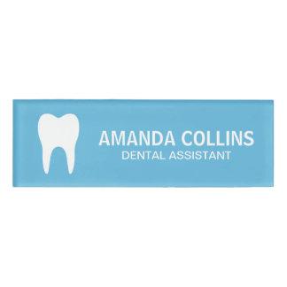 Custom color tooth logo dental assistant dentist