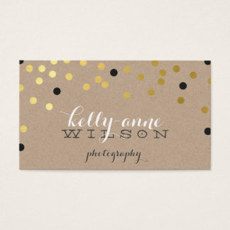 CUSTOM CONFETTI GLAMOROUS gold foil spot kraft Business Card