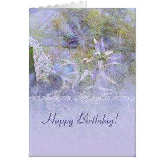 Custom Cottage Garden Happy Birthday Card
