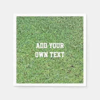 Custom Cut Grass Lawn Disposable Serviette