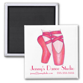 Custom Dance Studio Ballet Shoes Ballerina Magnet