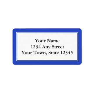 Custom Dark Blue & White Envelope Address Labels