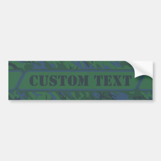 Custom Dark Green Camo Bumper Sticker