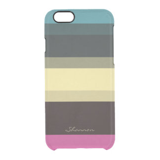 Custom Designer Colors Striped Clear iPhone 6 case Uncommon Clearly™ Deflector iPhone 6 Case