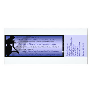 "Custom Dinner, Fashion Show and Silent Auction 4"" X 9.25"" Invitation Card"