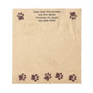 Custom Dog Paws Notepad