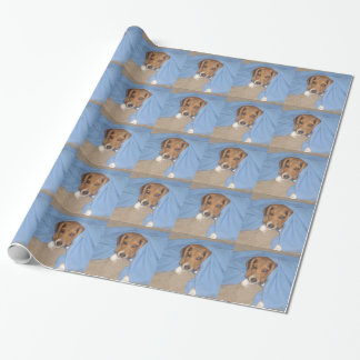 Custom dog photo wrapping paper