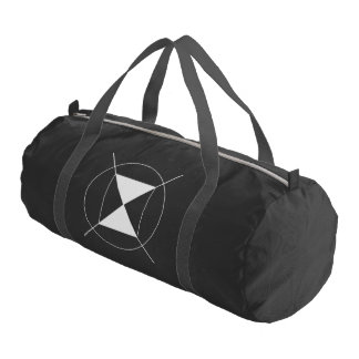 Custom Duffle Gym Bag, Black with Black straps Gym Bag