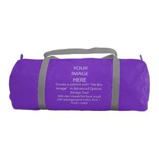 Custom Duffle Gym Bag, Purple with Silver straps Gym Duffel Bag