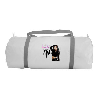 Custom Duffle Gym Bag, White with Silver straps Gym Duffel Bag