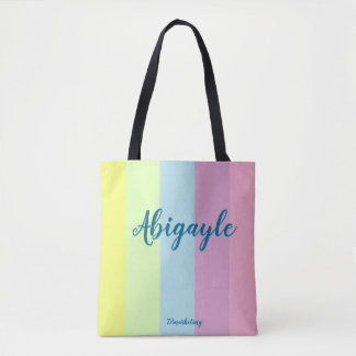 Custom Easter Tote Bag Pastel Girls Purse Abigayle