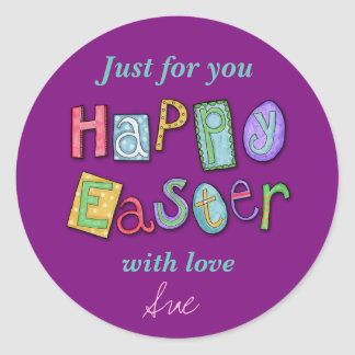 Custom Easter Treat Stickers