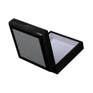 Custom Elegant Silver Textured Gift Box