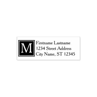 Custom Family Monogram & Return Address - Classic Self-inking Stamp