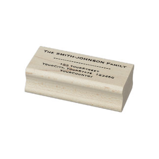 Custom Family Name + Address Rubber Stamp