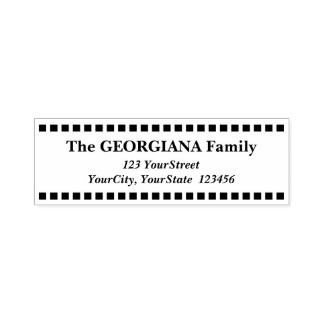 Custom Family Name & Address & Square Shapes Self-inking Stamp