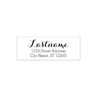 Custom Family Name and Return Address - Whimsy Self-inking Stamp