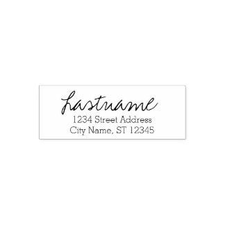 Custom Family Name & Return Address - Written Self-inking Stamp