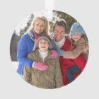 Custom Family Photo Holiday Ornament