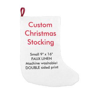 "Custom Faux Linen Christmas Stocking 9""x16"" 2-side"