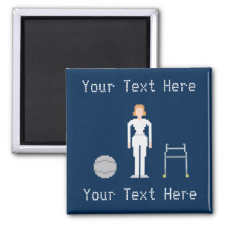 Custom Female Physical Therapy Square Magnet