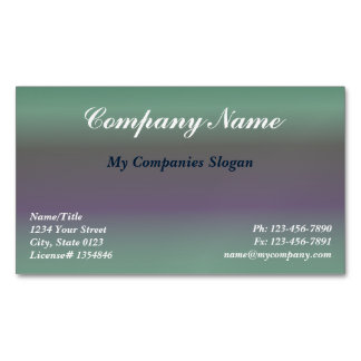 Custom Fig Gradient Magnetic Business Card Magnetic Business Cards