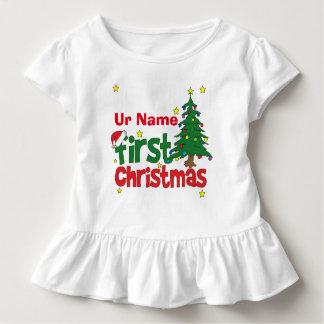 Custom First Christmas Toddler T-Shirt