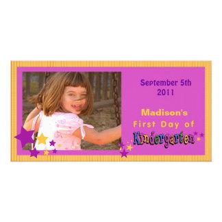 Custom First Day of Kindergarten Personalized Custom Photo Card