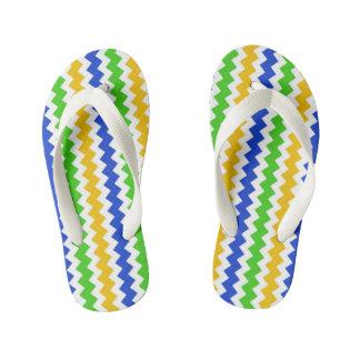 Custom Flip Flops, Kids Zigzag Image Kid's Jandals