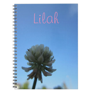 Custom Flower Photo Notebook with Name