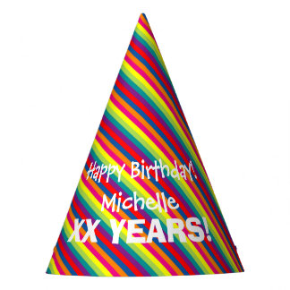 Custom fun colorful paper Birthday party hats