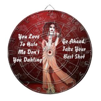 Custom Funny Drag Queen Dartboard